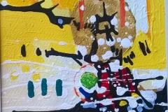 Abstracciones sobre papel IVAbstracciones sobre papel IVAcrílico y collage 24  cm x 17 cm 2016