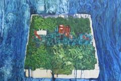 Serie: objeto paisaje I. Acrílico 40 cm x 30 cm 2009