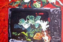 Serie: objeto paisaje III. Acrílico 40 cm x 30 cm 2009