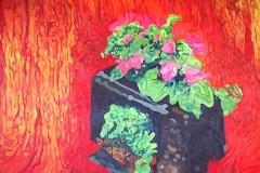 Serie: objeto paisaje IV. Acrílico 40 cm x 30 cm 2009