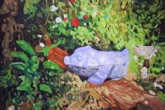 Serie: objeto paisaje VI. Acrílico 40 cm x 30 cm 2009