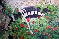 Serie: objeto paisaje VIII. Acrílico 40 cm x 30 cm 2009