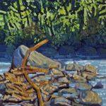 Plein Air.   Rio piedras, Acrílico, 25 cm x 20 cm. 2017